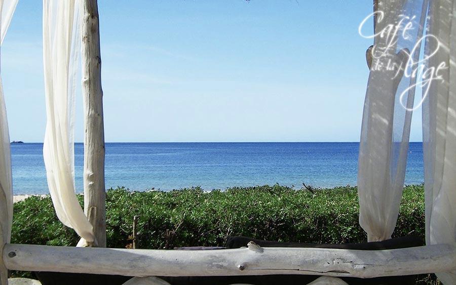 The Restaurant Restaurant De La Plage Is Located On Arone Beach In Piana